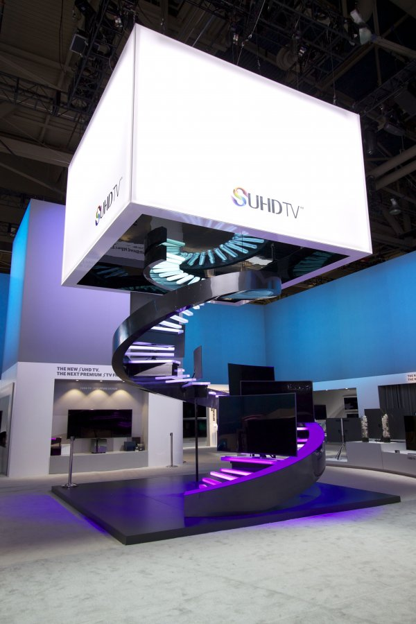 Exhibition Stand Lighting Equipment : Ces samsung exhibit fine design associates