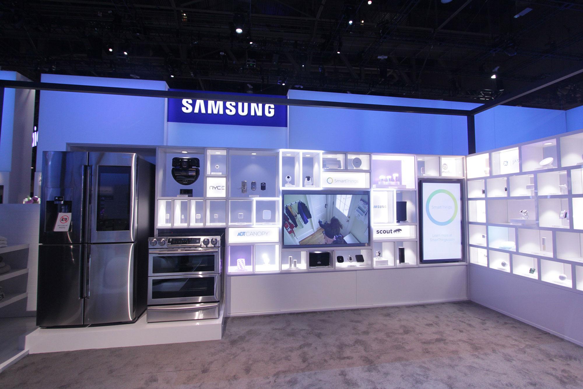 Samsung Exhibition Booth Design : Samsung ces exhibit lighting fine design associates