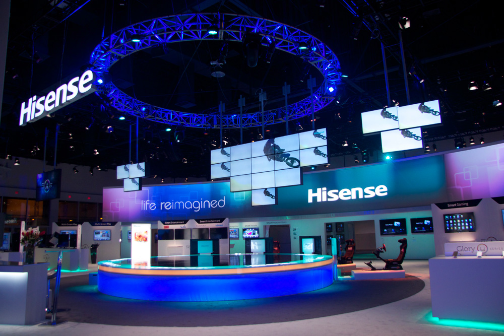 CES 2013 Hisense Exhibit Lighting