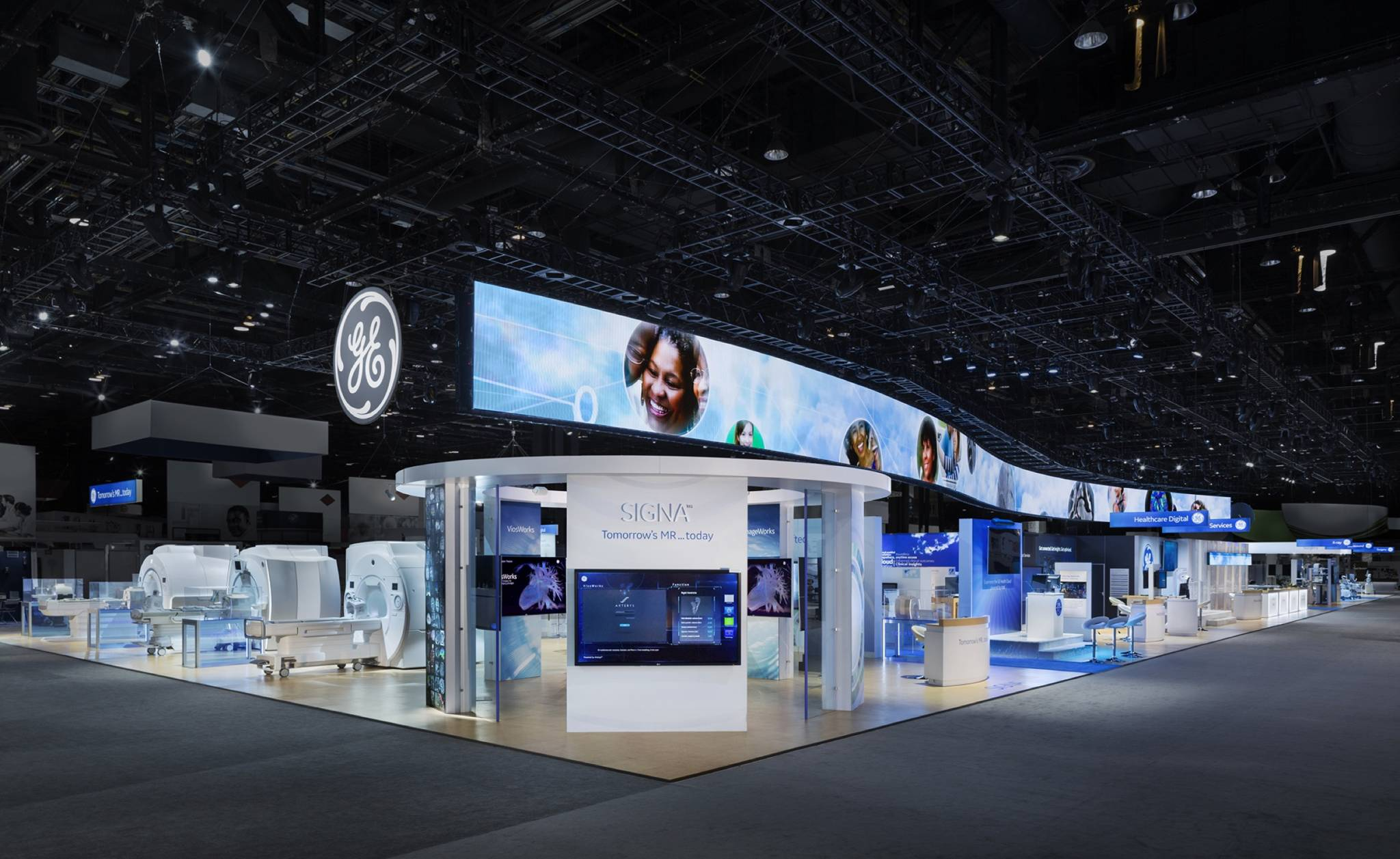 Exhibition Booth Or Stand : Ge healthcare rsna  fine design associates