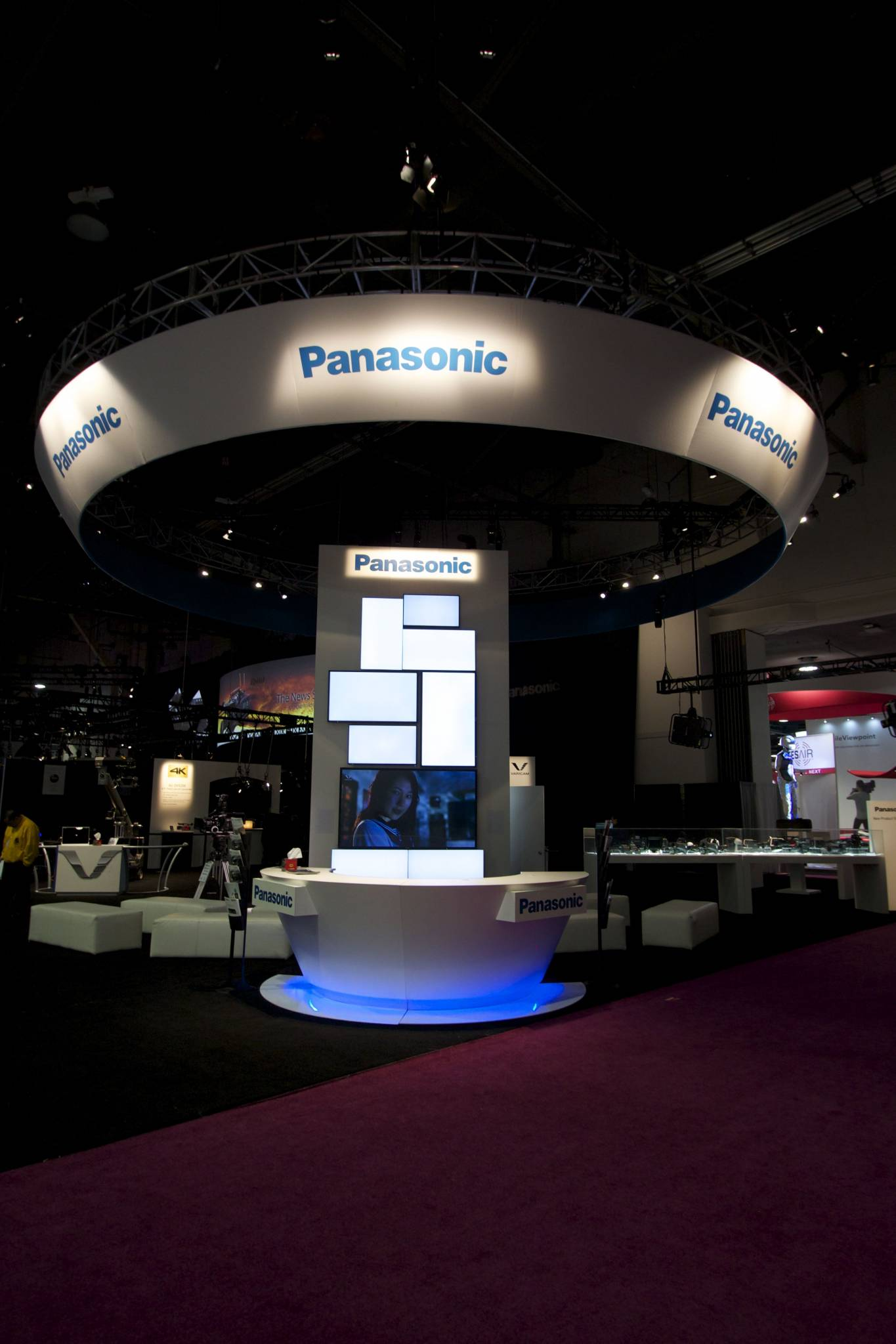 ... showcased the intricate theatrical lighting needed to demonstrate the versatile camera technology as offered by Panasonic such as the Varicam platform. & 2015 - NAB - Panasonic Exhibit Lighting - Fine Design Associates azcodes.com