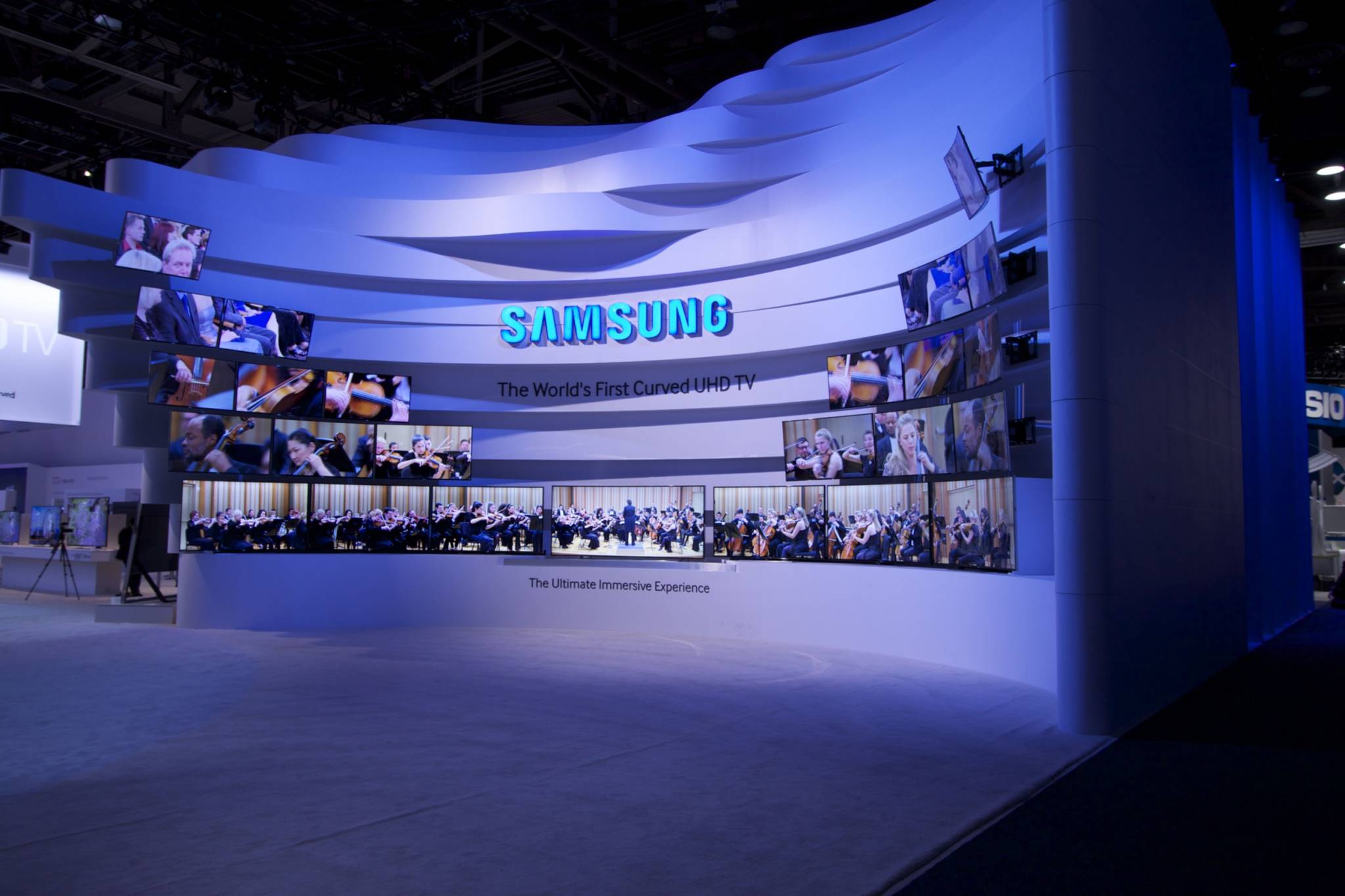 Exhibition Booth Lighting : Ces samsung exhibit fine design associates